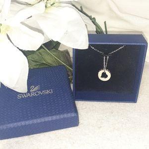 SWAROVSKI 0auth/ Rose diamond heart ring Necklace
